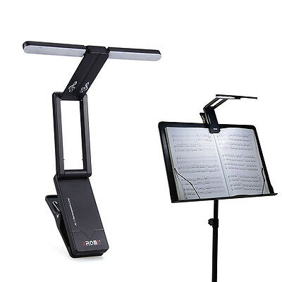 10 LEDs Clip-On Orchestra Music Stand Foldable LED Light Lamp w/ 1200Mah Battery