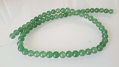 1 LOT DE 67 PERLES en Jade 6 mm
