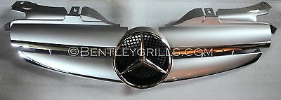 Mercedes SLK R170 Grille Iridium Silver Chrome