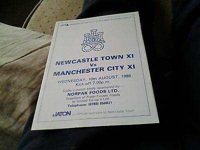 Newcastle town v manchester city xi 88.89 friendly