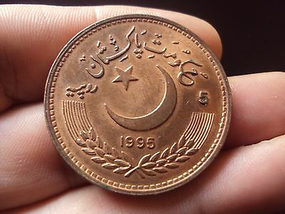 Pakistan 5 Rupees 1995 United Nations Unc Coin #3004