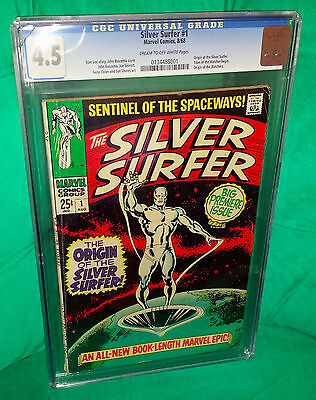 Silver Surfer 1. 1968. Iconic 1st Issue. CGC Universal 4.5. VG+
