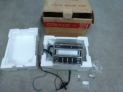 Vintage Craig 3124 8 Track Cassette Tape Player Car Truck In Box