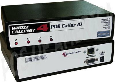 Whozz Calling? Inbound Outbound Caller ID DeLuxe 4 Lines Ethernet Aldelo Express