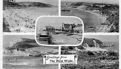Postcard Isle of Wight Greetings from West Wight multiview   posted