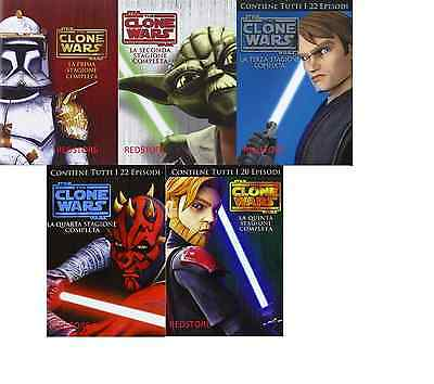 Star Wars -The Clone Wars  La Serie Completa Stagioni 1,2,3,4,5  (20 Dvd)
