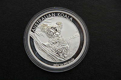 2015 Australian Perth Mint Koala 1 oz Troy ounce Fine 999 Silver Coin Bullion
