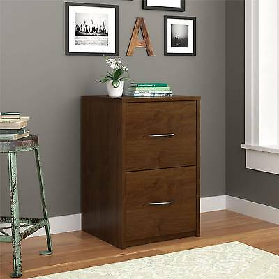 2 Drawer File Cabinet Black Brown Filing Storage Home Vertical Office Furniture