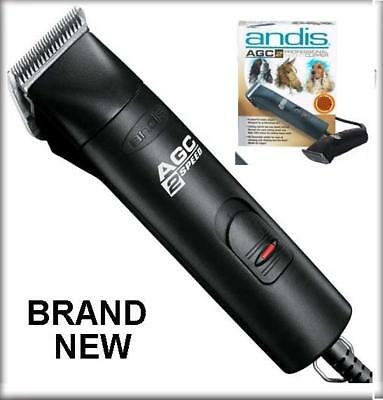 NEW Andis PRO AGC2 Dog Grooming CLIPPER 2-Speed BLACK 22340