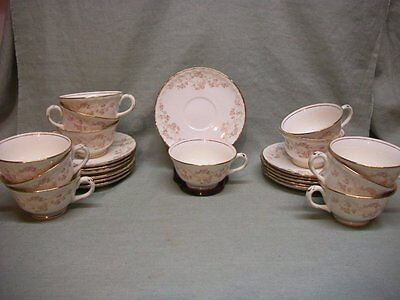 Vintage Pope Gosser China Florence Pattern Coffee Cup & Saucer