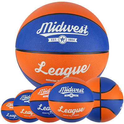 Midwest League Basketball Blue/Orange - Sizes 3 / 5 / 6 / 7 / Indoor or Outdoor