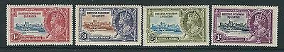 British Solomon Is. Sg53/6 1935 Silver Jubilee Mtd Mint Light Gum Tone