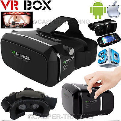 Virtual Reality 3D VR Box Shinecon Headset Glasses for iPhone Android Phones