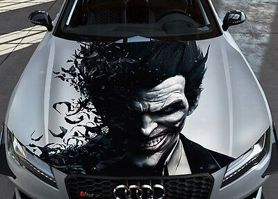 Joker #2 Car Bonnet Wrap Full Color Vinyl Sticker Decal Fit Any Car