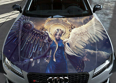 Wings Angels Demon Gothic Car Bonnet Wrap Color Vinyl Sticker Decal Fit Any Car