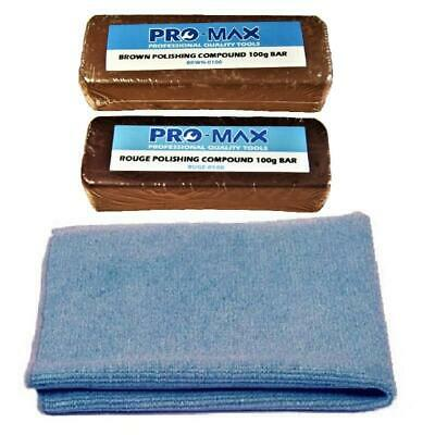 Pro-Max Jewellers Rouge Jewellery Polishing Compound 100g Bars 2pc Kit