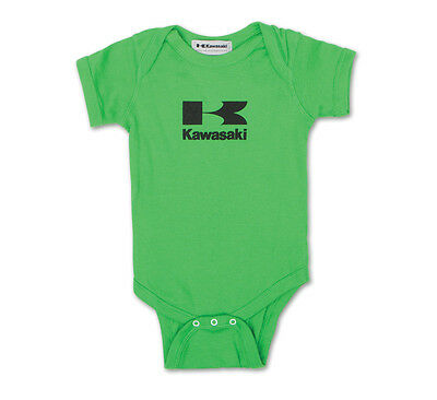 Genuine Kawasaki Infant Onsie Stacked Logo Green Shirt Size 6 Months 6M