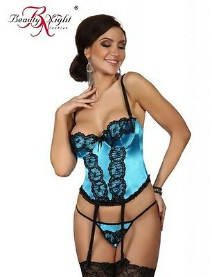 MICHELE Corset Turquoise Lingerie Beauty Night