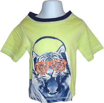 USED Boys George Green Cool Lion Printed Top Size 18-24 Months (E.B)