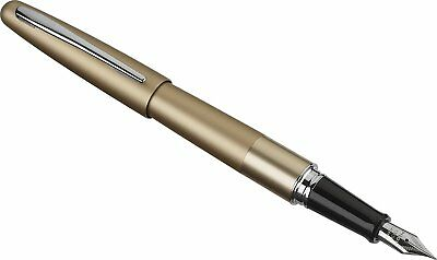 Pilot Metropolitan Fountain Pen,Gold Barrel, Classic Medium Nib, Black Ink 91119