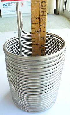 "3/16"" Dia. Stainless Steel Immersion Wort Chiller / Pre-Chiller - Homebrew Beer"