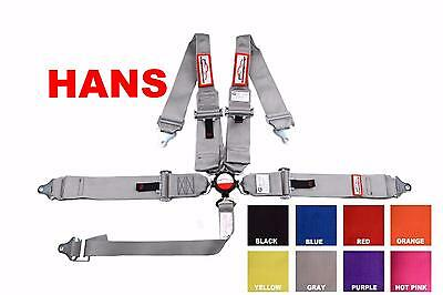 Sfi 16.1 Hans Cam Lock Racing Harness 5 Pt Roll Bar Mount Belt Gray Or Any Color