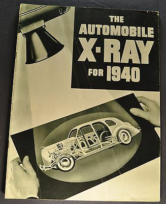 1940 Nash Catalog Brochure X-Ray Ambassador LaFayette Excellent Original 40