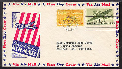 1944 WASHINGTON, DC., #E18 17c on SPECIAL DELIVERY FIRST DAY CACHET