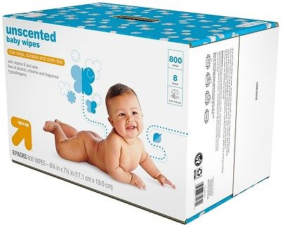 Baby Wipes Refill Pack - Unscented - 800 ct - up and up and #153;