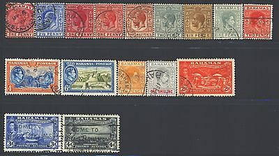 BAHAMAS Collection of 16 Used 1859-1953 Era All Different