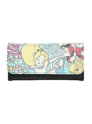 NEW Disney Loungefly Alice In Wonderland Queen Hearts Faux Leather Snap Wallet