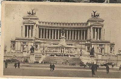 Italy Postcard Rome Rail Station Vittorio Emmanuel Monument 1948