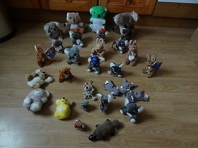 Bundle Of 28 Large & Small Plush Soft KOALA BEARS & KANGAROOS 9 ins High max