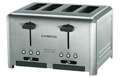 Kambrook Profile Electric 4 Slice Stainless Steel Toaster High Lift Kitchen New