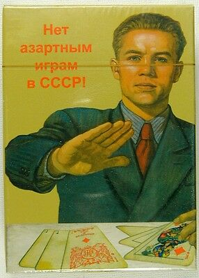 Russian 54 Playing Cards Deck USSR Propaganda Posters No Gambling Pack Sealed