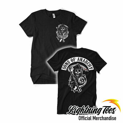 Official Sons Of Anarchy Reaper Back Patch Biker T-Shirt