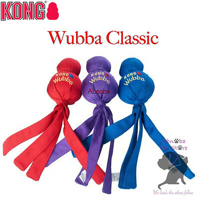 Kong Wubba Classic toss & tug toy Dogs & Puppies reinforced nylon fabric 3 sizes