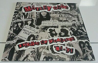 MOTLEY CRUE-Decade of decadence '81-'91(2LP)1991 GERMANY+INSERTS+POSTER NM/EX
