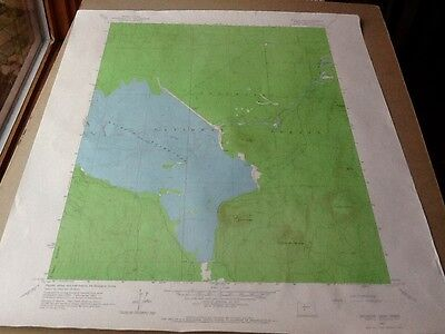 1963 Dept Of Interior Topo Map Lot #151, Wickiup Dam, Oreg Wickiup Reservoir