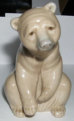 RETIRED COLLECTABLE LlADRO PORCELAIN  BEAR SEATED RESTING