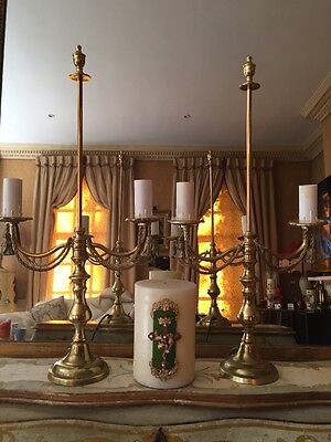Vintage/Victorian/retro/traditional/ Pair Of Brass Lamps Only £90 Each