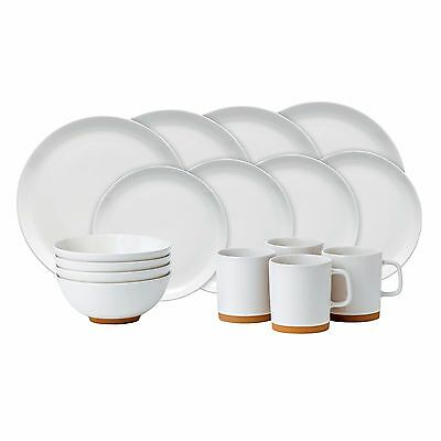 NEW Royal Doulton Barber & Osgerby Olio White Dinner Set 16pce- low price!