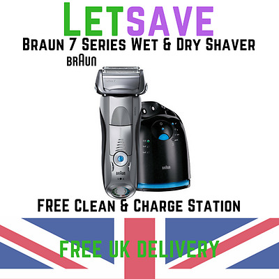 Braun 797cc-7 Series 7 Wet&Dry shaver with Clean&Charge Station RRP £299