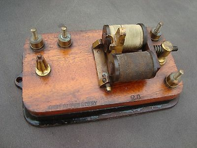 Antique Foote Pierson New York Telegraph Register Key Sounder Relay Base Brass