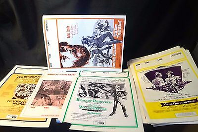18 Vintage 1970s Movie Theater Advertising Flyer Posters Universal Distributed