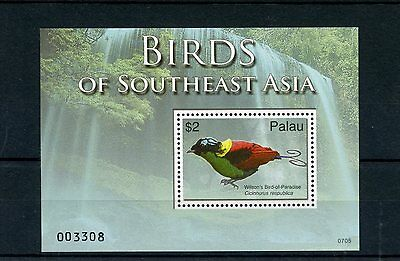 Palau 2007 MNH Birds of South East Asia 1v S/S Wilson's Bird of Paradise Stamps