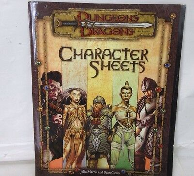 Dungeons and Dragons: CHARACTER SHEETS 2000