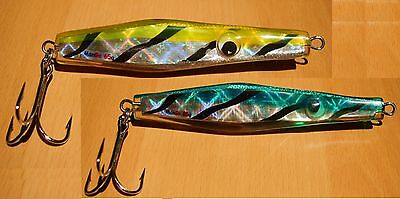2 MANGO HOLOGRAPHIC Bass Bullet pirk 65g speed jig lure plug fishing tackle NEWc