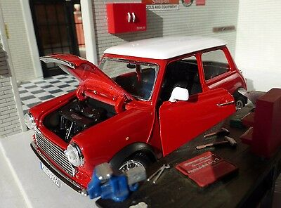 Austin Rover Mini Classic Cooper Red LGB G 1:24 Scale Diecast V Detailed Model