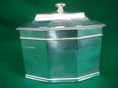 1935 Sheffield English Sterling Tea Caddy---- Dunhill London
